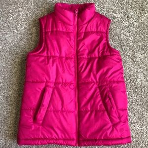 2/25! OshKosh Hot Pink Puffer Vest Size 10